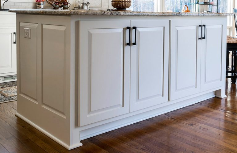 kitchen island cabinet refacing after