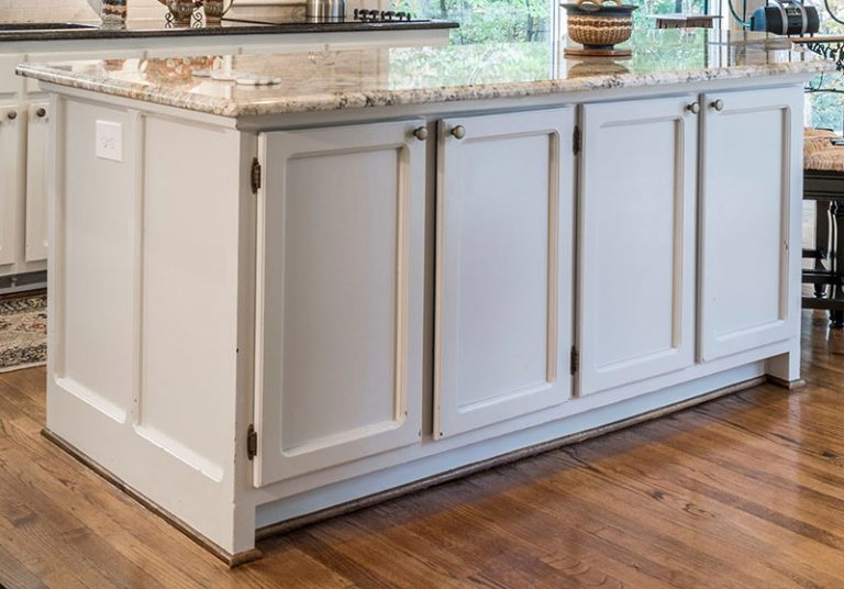 kitchen island cabinet refacing before
