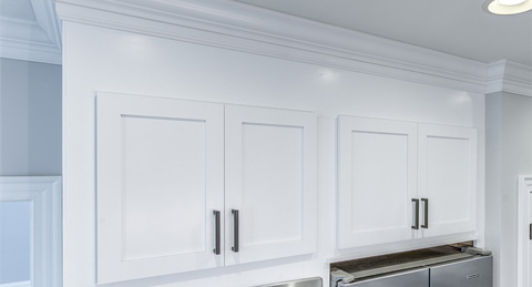 white kitchen cabinet refacing after